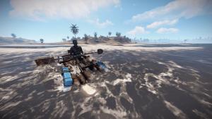 Игрок на каяке в Rust