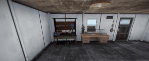 Верстак 2 уровня на большой нефтяной вышке в Rust