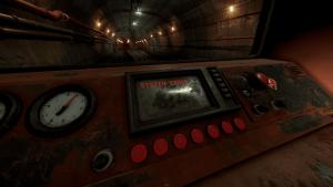 Монитор разрушенного от столкновения мотовоза в Rust
