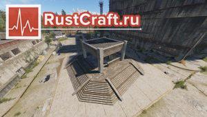 Вход в метро на космодроме в Rust