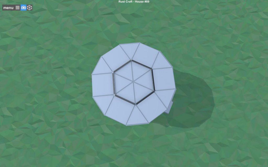 Крыша дома в игре Rust