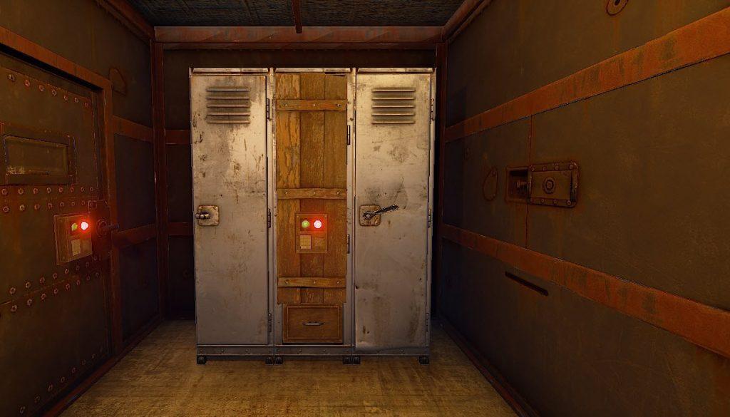 Поставили замок на оружейный шкаф в Rust