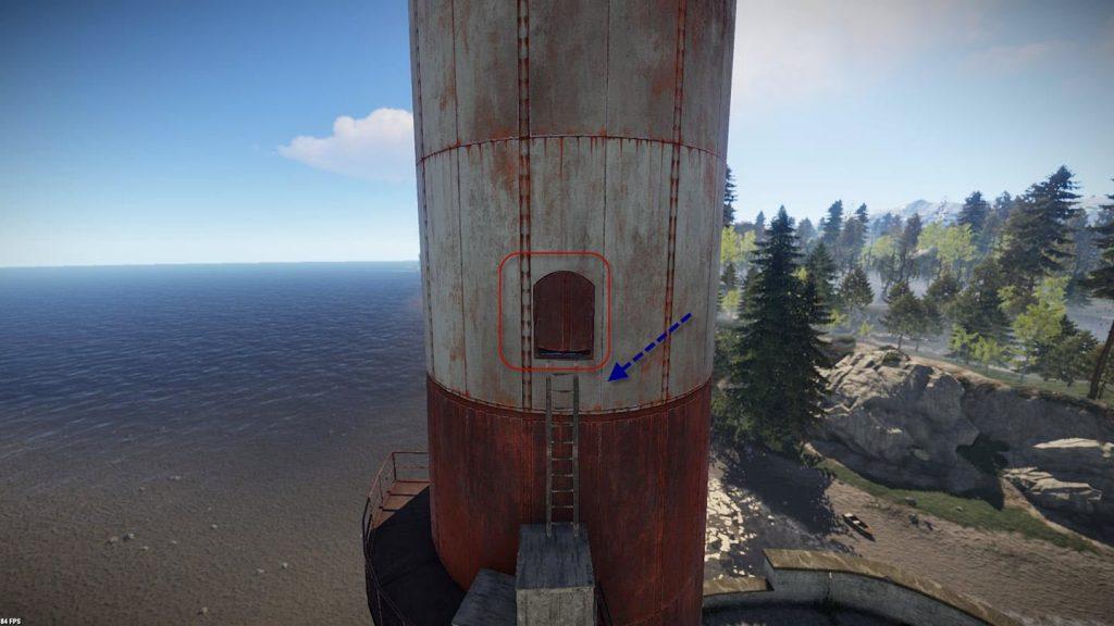 Лестница для подъема в верхнюю часть маяка