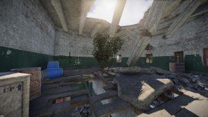 Разрушенный этаж в маяке
