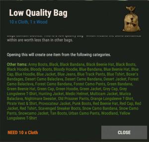 Мешок низкого качества Rust