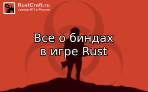 Бинды в игре Rust