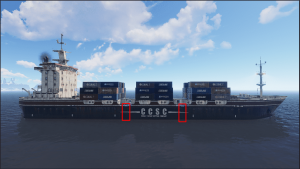Места для подъема на корабле Rust