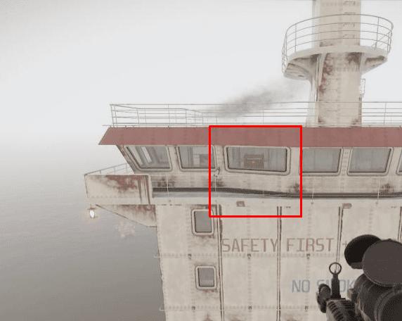 Место спавна ящика Rust корабль