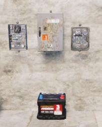 Разветвитель и переключатели над аккумулятором
