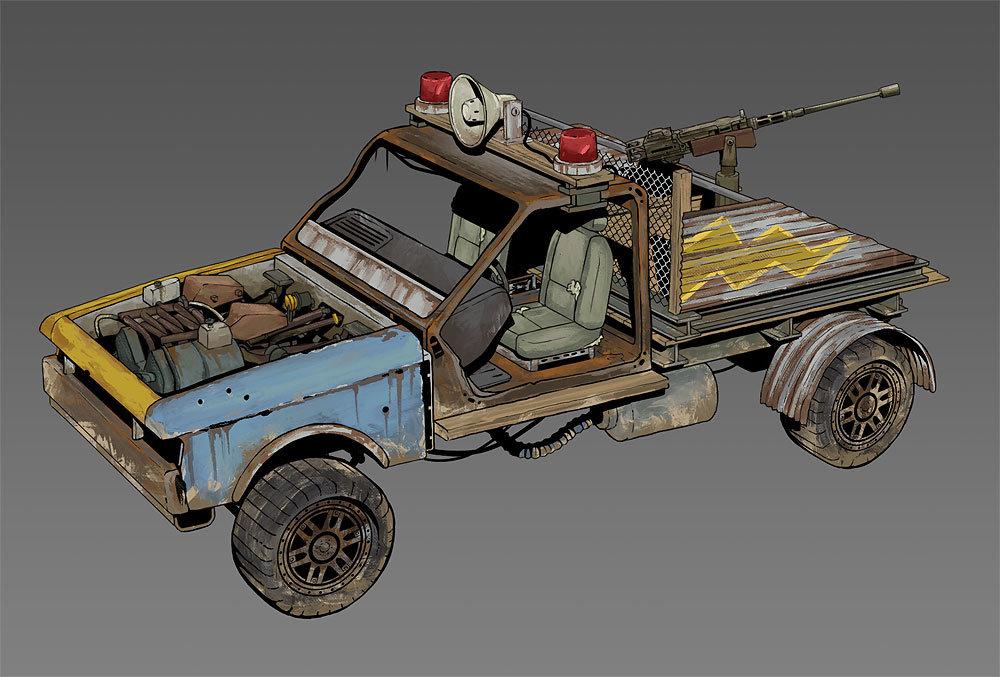 Концепт машины с пулемётом