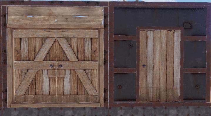 Деревянные двери в Rust