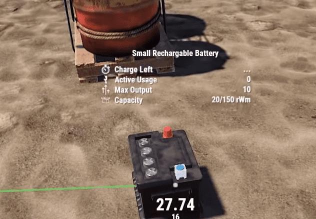 Информация о маленьком аккумуляторе в Rust