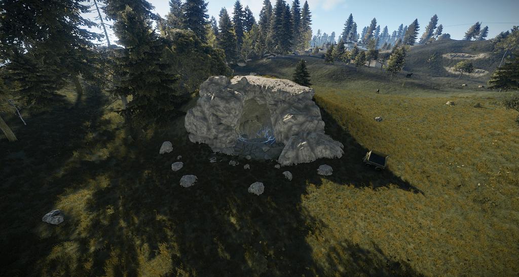 Вход в третий тип пещер