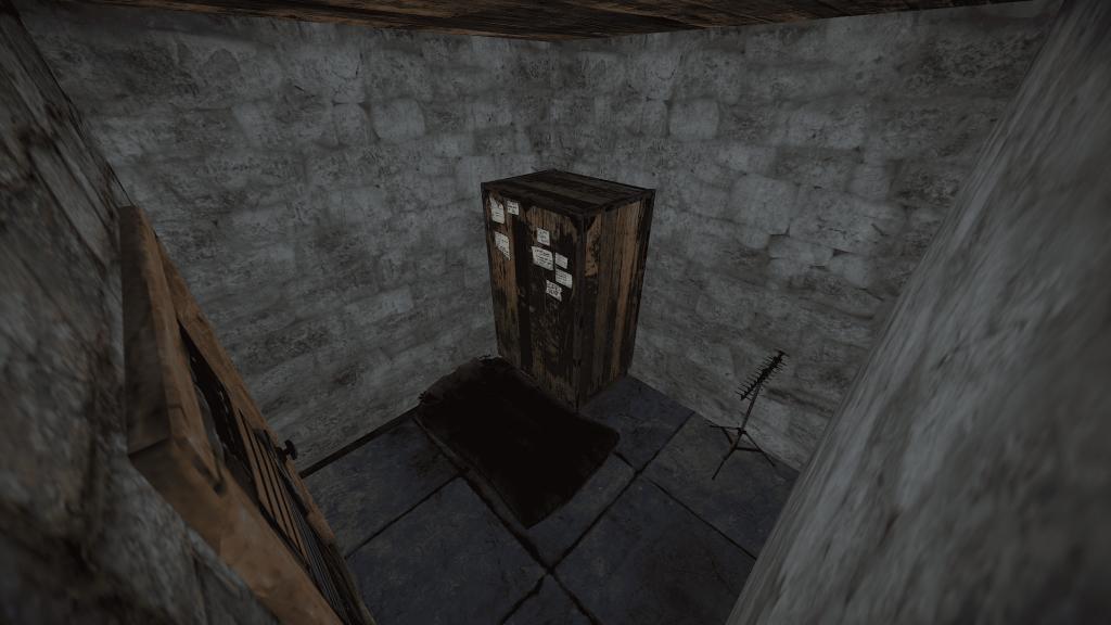 Комната с электричеством и шкафом в Rust