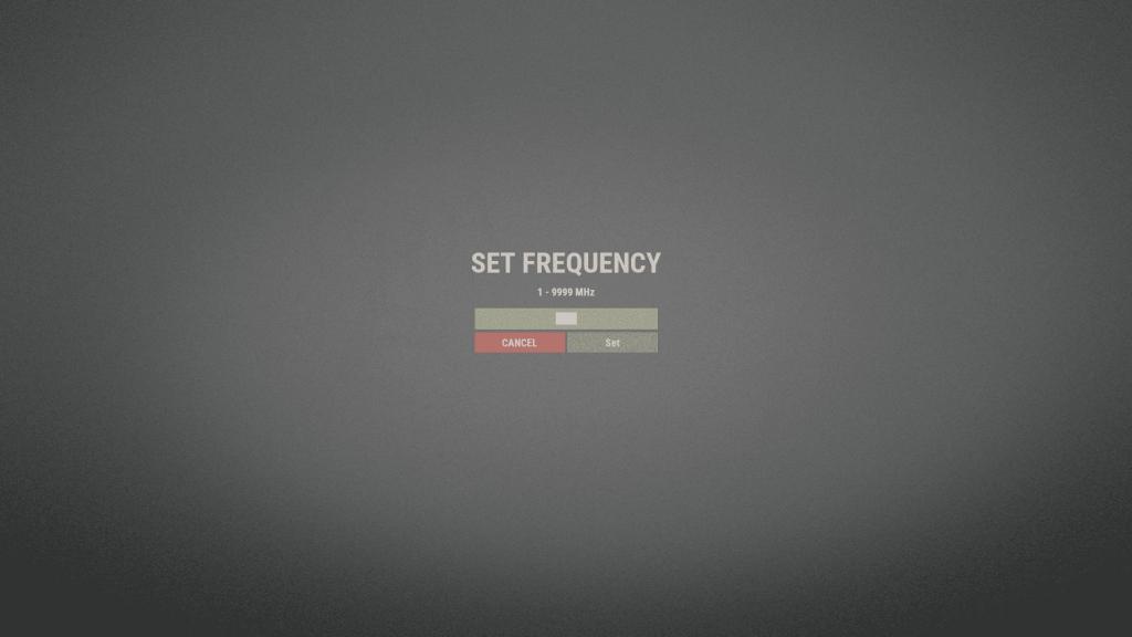 Меню выбора частоты в Rust