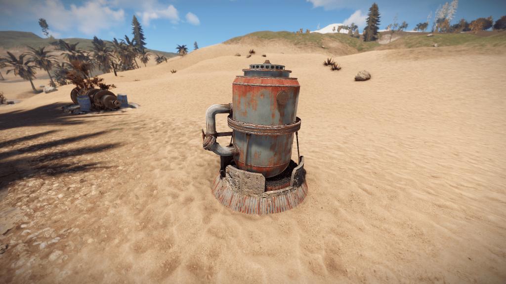 Нефтеперерабатывающий завод в игре Rust
