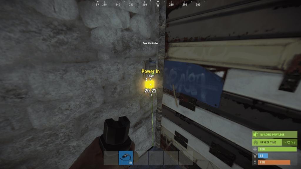 Передача энергии на дверной контроллер в Rust
