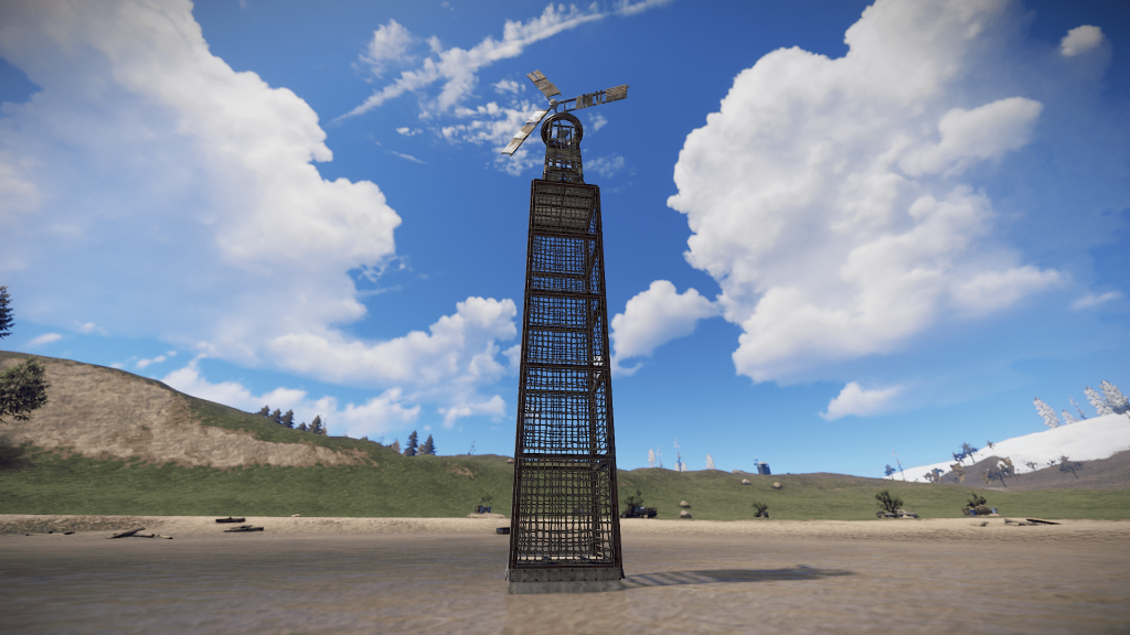 Пример вышки для ветрогенератора в игре Rust