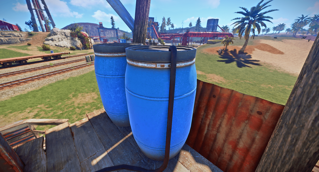 Топливный бак нефтекачки в игре Rust