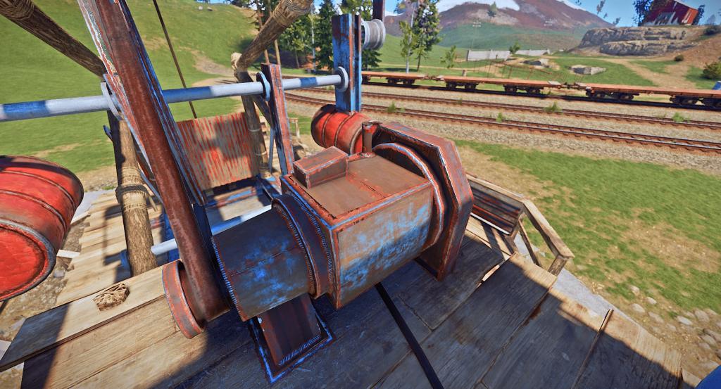 Триггер для запуска нефтекачки в игре Rust