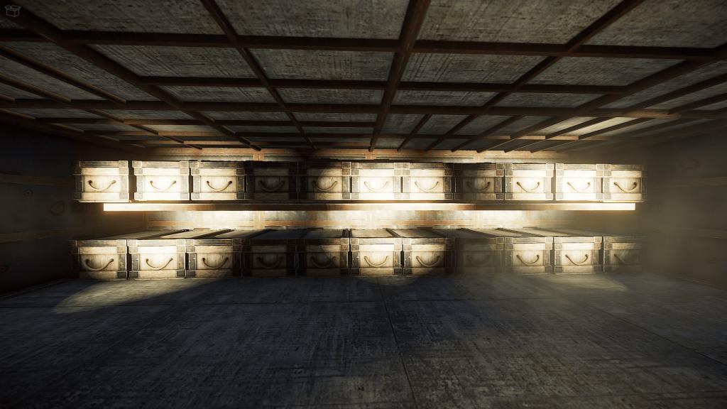 Установленые ящики на потолки, которые идут от полустенки