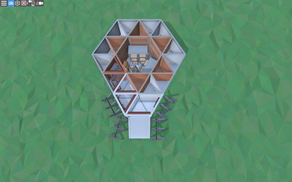 Первый этаж простого дома для соло игрока в Расте