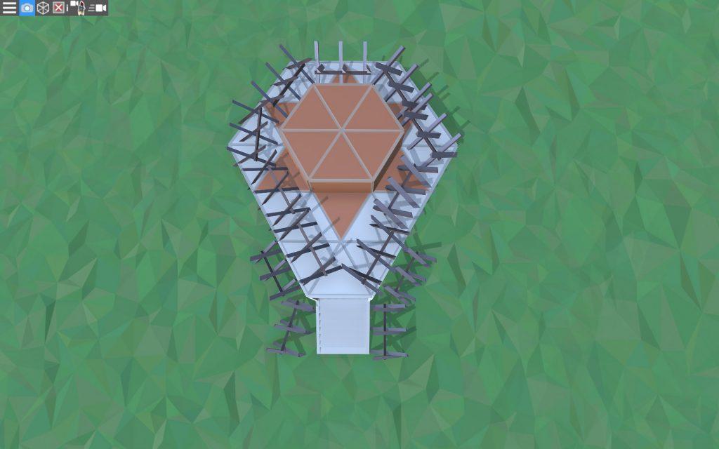 Крыша простого дома для соло игрока в Расте