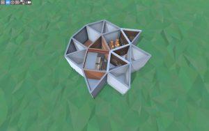 Первый этаж простого дома для соло игрока в Rust