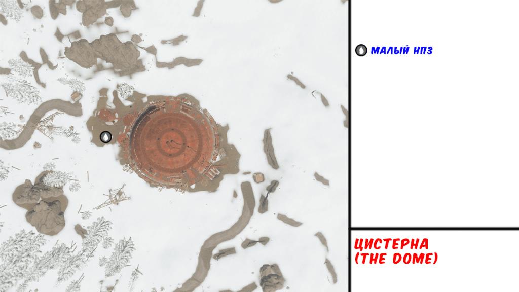Карта цистерны в игре Rust