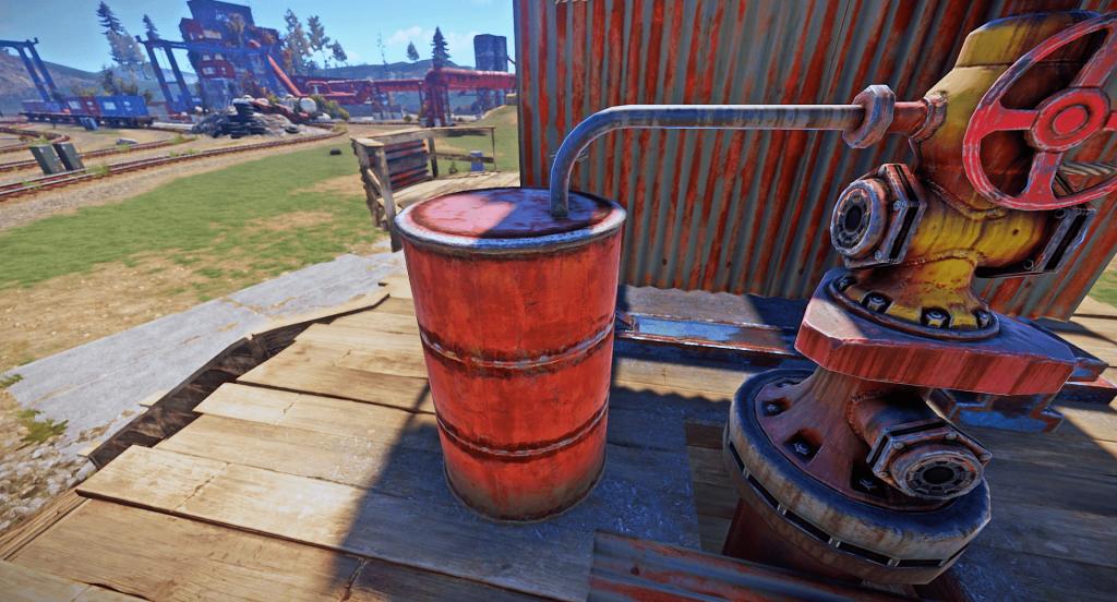 Ёмкость для хранения добытой нефти в Rust