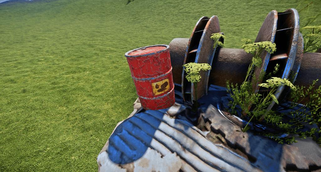 Бочка с нефтью в Rust