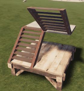 Бронированная U-образная лестница в Rust