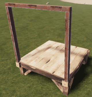 Бронированный настенный каркас в Rust