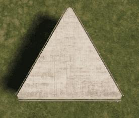 Бронированный треугольный фундамент в Rust