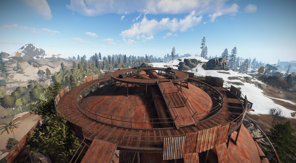 Верхний уровень цистерны в Rust