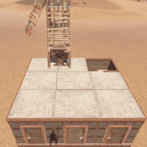 Ветрогенератор, установленный на крыше в Rust