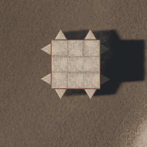 Внешний вид базы сверху в Rust