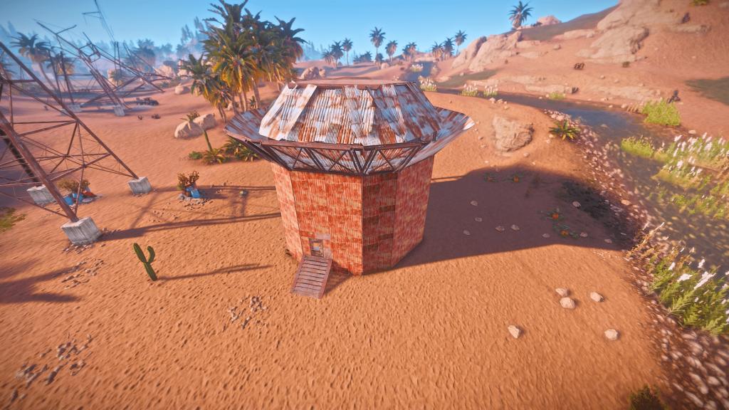Внешний вид вышки для вертолёта в Rust
