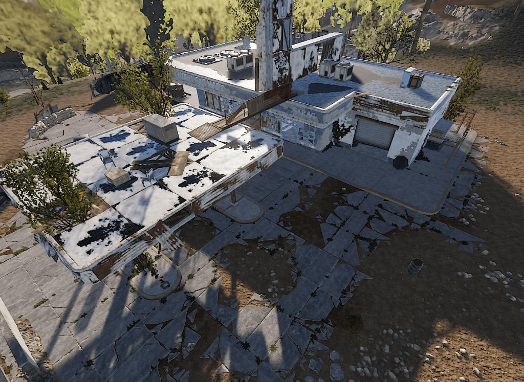 Внешний вид заправки в Rust