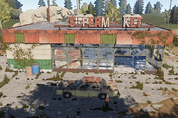 Внешний вид супермаркета в Rust