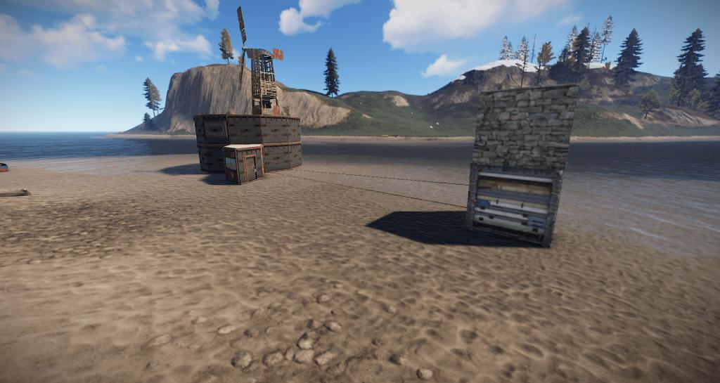 Временно открывающаяся автоматическая турель в Rust