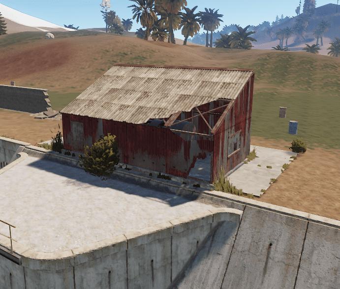Второе здание на окраине водоочистной станции в Rust