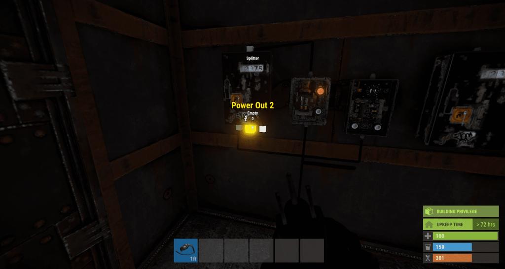 Вывод энергии из первого разветвителя (Второй разъём) в Rust
