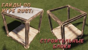Гайды в Rust - Строительные блоки