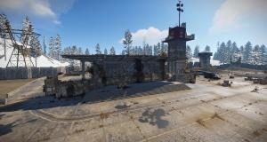 Главное здание на РТ Аэродром в Rust