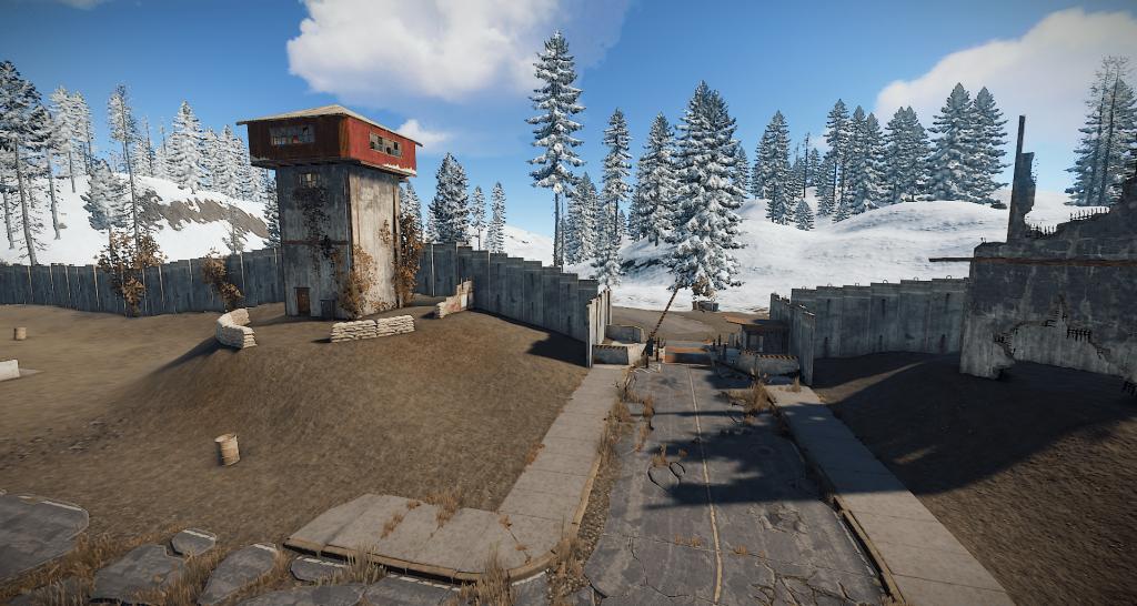 Главные ворота аэродрома в Rust
