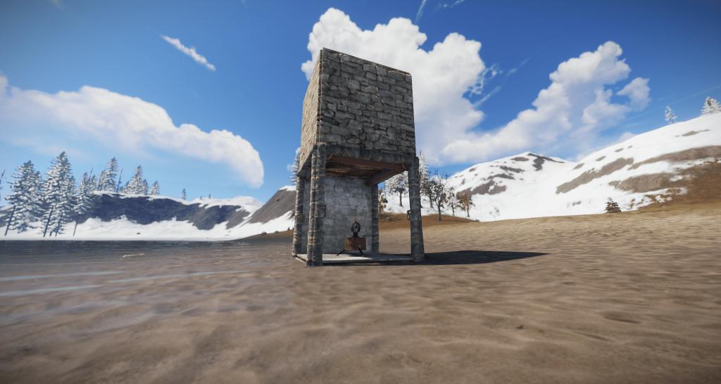 Готовая постройка для автоматической турели в Rust