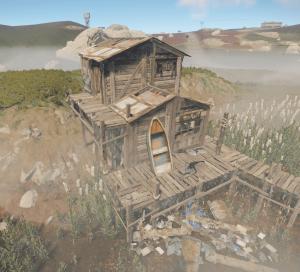 Двухэтажный заброшенный домик в Rust