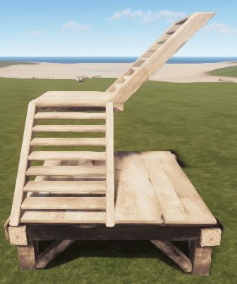 Деревянная L-образная лестница в Rust