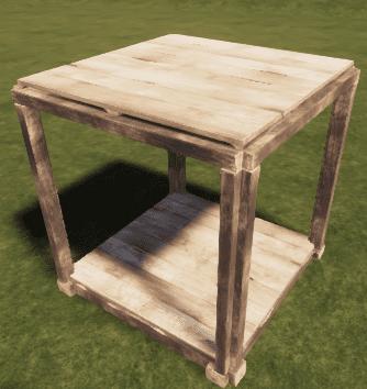 Деревянный квадратный потолок в Rust
